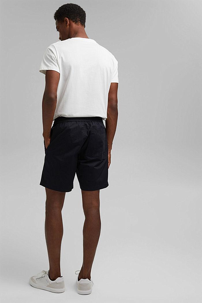 Pantalón corto con cordón elástico, 100 % algodón ecológico, BLACK, detail image number 3
