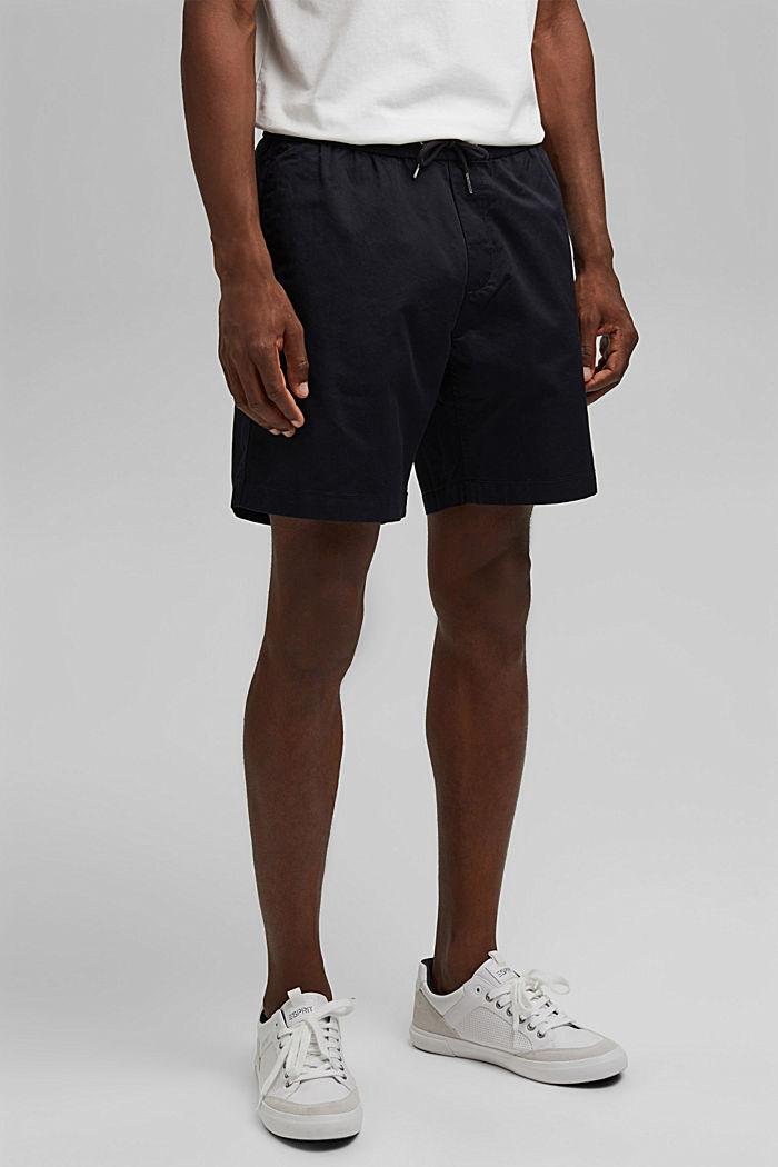 Pantalón corto con cordón elástico, 100 % algodón ecológico, BLACK, detail image number 6
