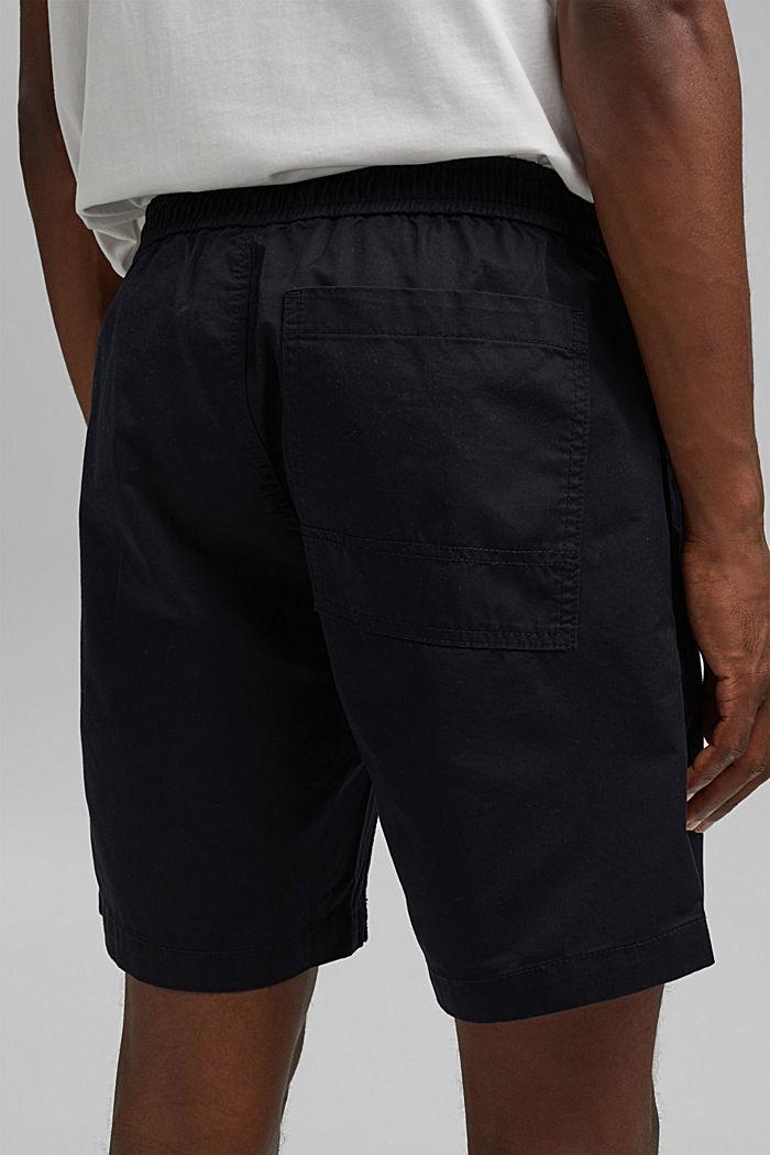 Pantalón corto con cordón elástico, 100 % algodón ecológico, BLACK, detail image number 5