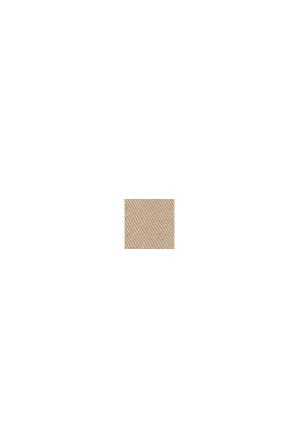 Short à cordon de serrage à la taille, 100 % coton biologique, LIGHT BEIGE, swatch