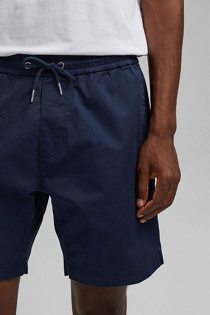 Short à cordon de serrage à la taille, 100 % coton biologique, DARK BLUE, detail image number 2