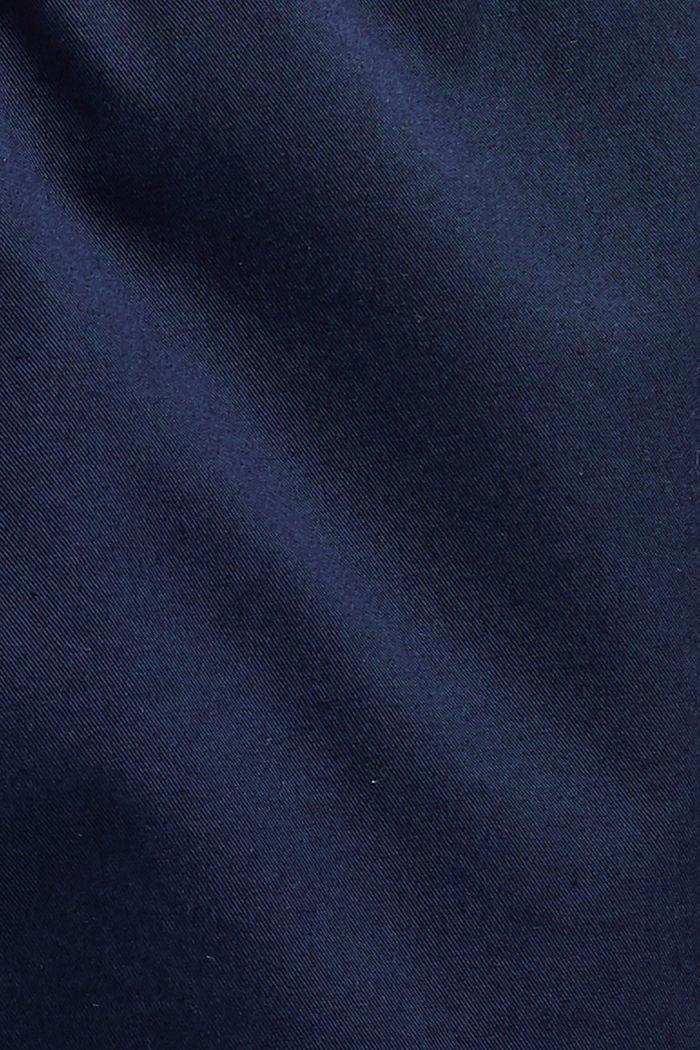 Short à cordon de serrage à la taille, 100 % coton biologique, DARK BLUE, detail image number 4