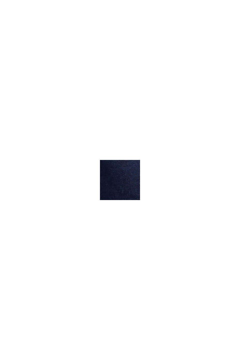 Short à cordon de serrage à la taille, 100 % coton biologique, DARK BLUE, swatch