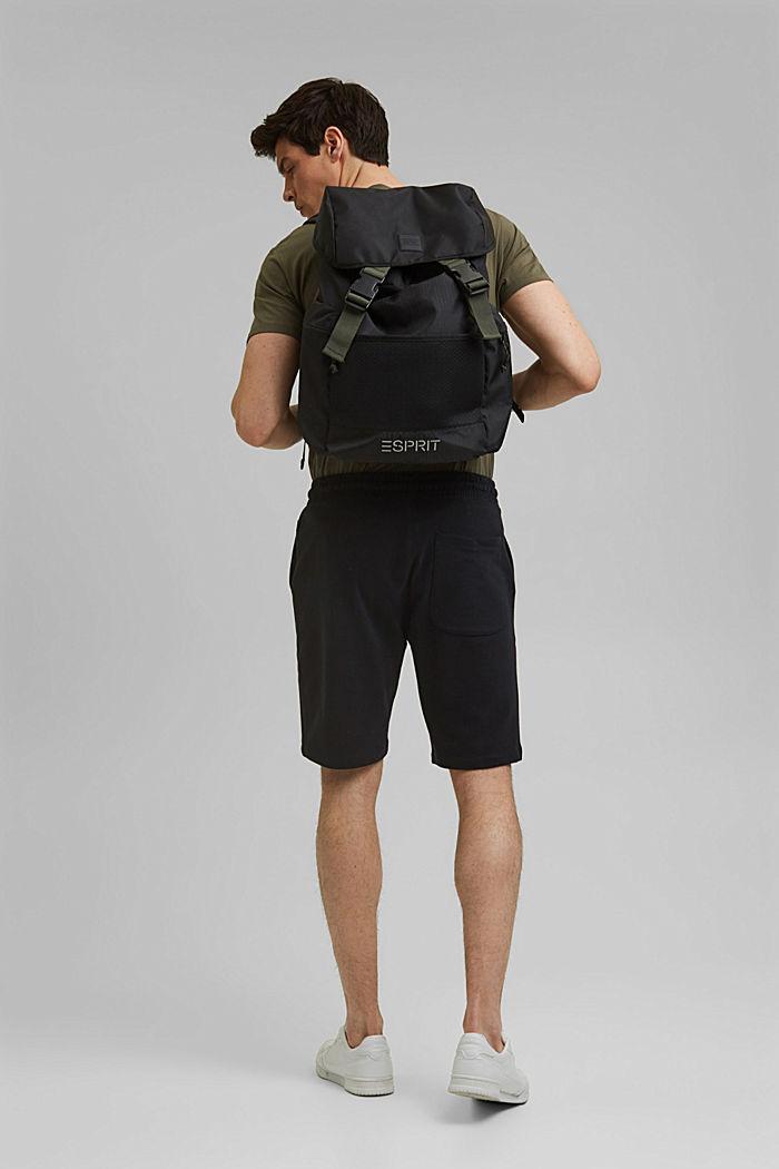 Sweat-Shorts aus 100% Organic Cotton, BLACK, detail image number 3