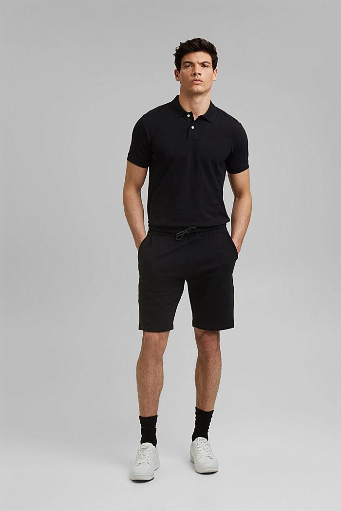 Sweat-Shorts aus 100% Organic Cotton, BLACK, detail image number 4