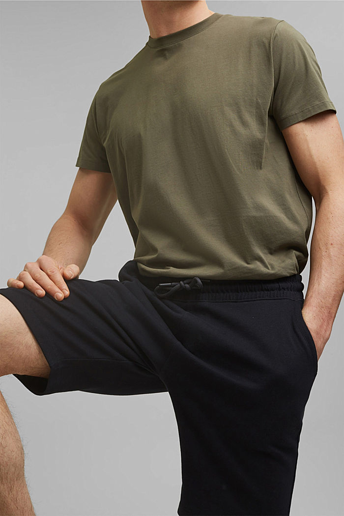 Sweatshirt shorts made of 100% cotton, BLACK, detail image number 2