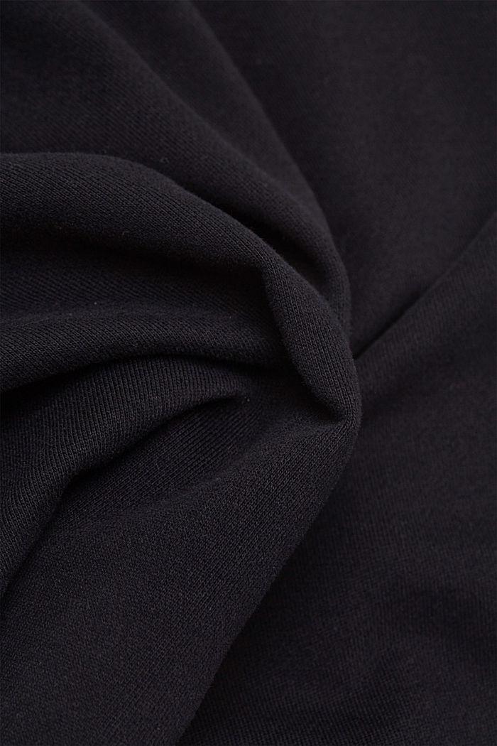 Sweatshirt shorts made of 100% cotton, BLACK, detail image number 5