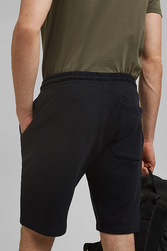 Sweatshirt shorts made of 100% cotton, BLACK, detail image number 6