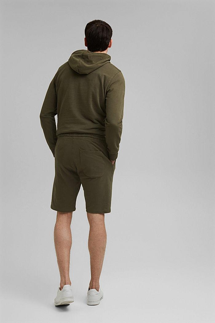 Pantaloncini in felpa di 100% cotone biologico, DARK KHAKI, detail image number 3