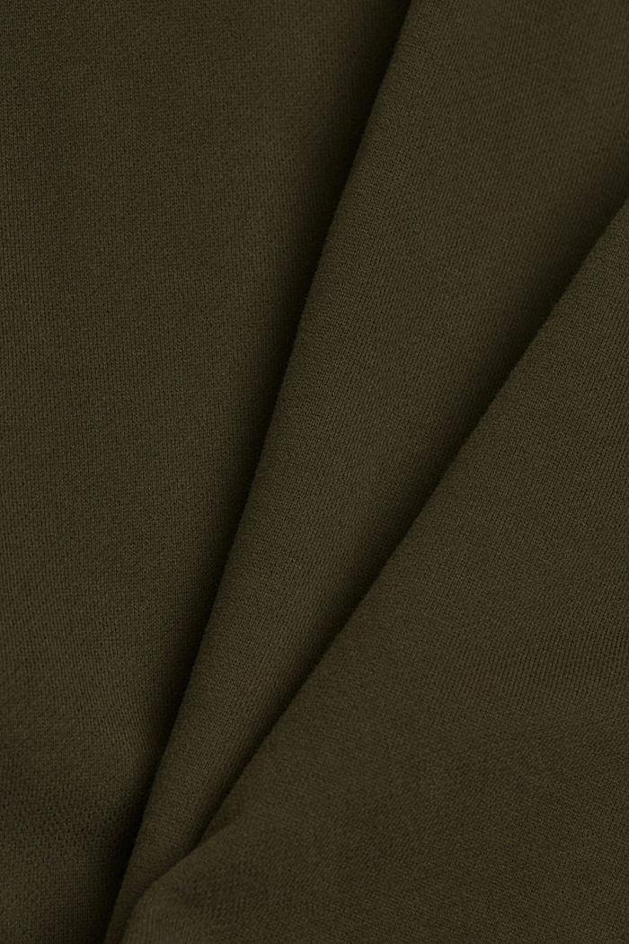 Pantaloncini in felpa di 100% cotone biologico, DARK KHAKI, detail image number 4