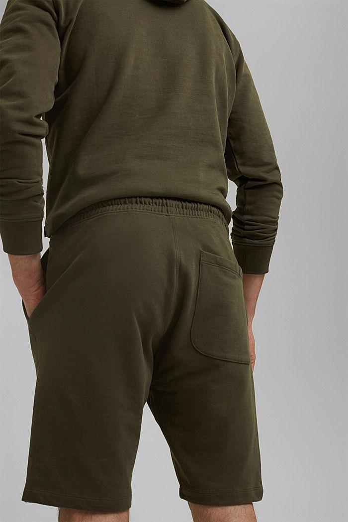 Pantaloncini in felpa di 100% cotone biologico, DARK KHAKI, detail image number 5