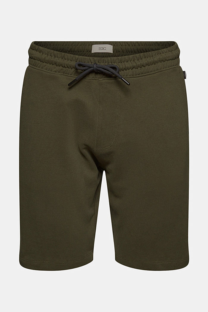 Sweat-Shorts aus 100% Organic Cotton, DARK KHAKI, detail image number 6