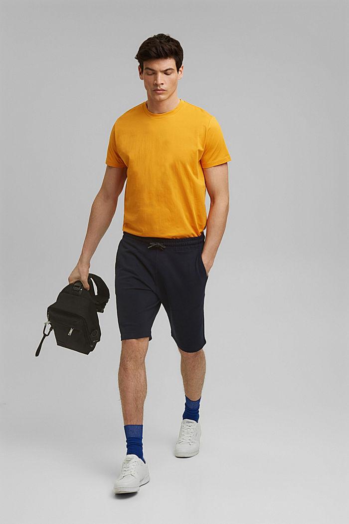 Sweat-Shorts aus 100% Organic Cotton, NAVY, detail image number 1