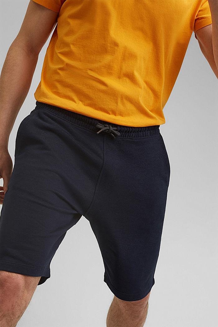 Sweat-Shorts aus 100% Organic Cotton, NAVY, detail image number 2