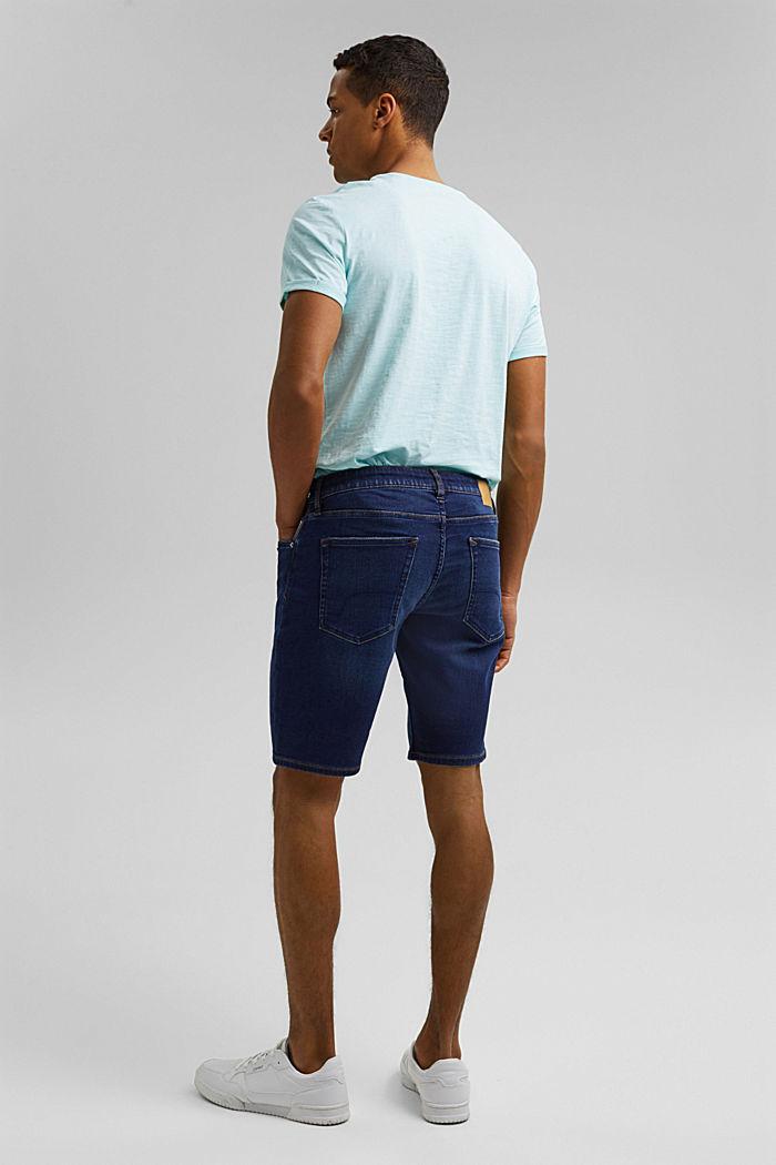 Dżinsowe szorty w stylu joggersów, BLUE DARK WASHED, detail image number 3