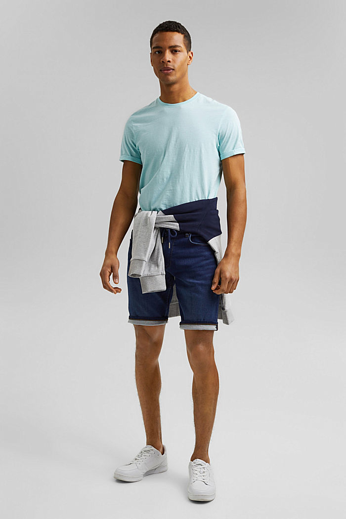 Denim-Shorts in Jogger-Qualität, BLUE DARK WASHED, detail image number 1
