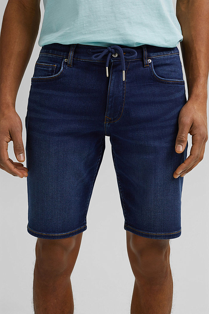 Denim-Shorts in Jogger-Qualität, BLUE DARK WASHED, detail image number 2