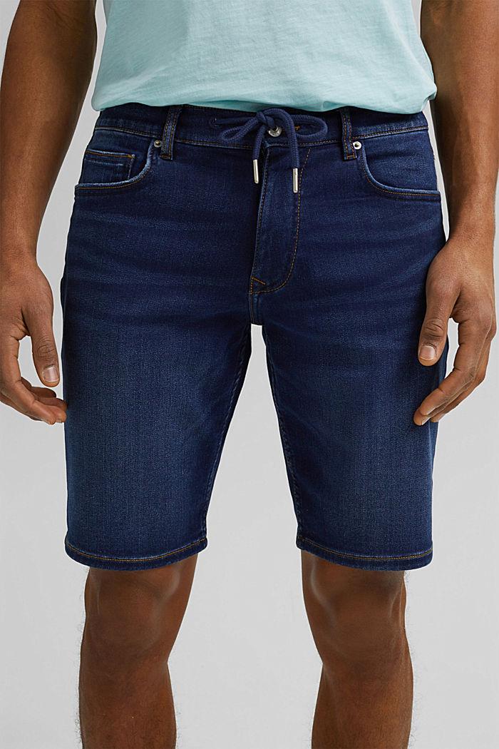 Dżinsowe szorty w stylu joggersów, BLUE DARK WASHED, detail image number 2