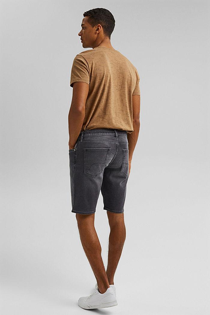 Pantalones vaqueros cortos en tejido deportivo, GREY MEDIUM WASHED, detail image number 3