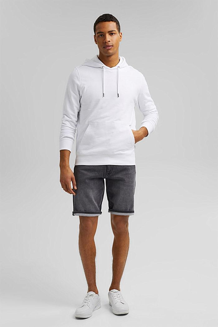 Pantalones vaqueros cortos en tejido deportivo, GREY MEDIUM WASHED, detail image number 1