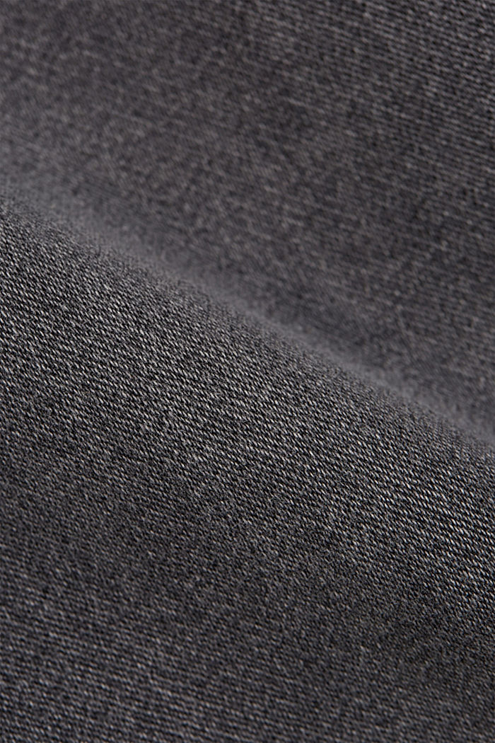 Denim shorts in tracksuit fabric, GREY MEDIUM WASHED, detail image number 5