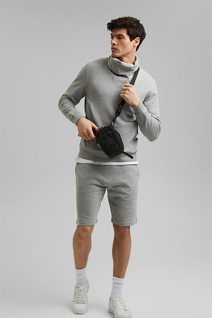 Shorts knitted, MEDIUM GREY, detail image number 1