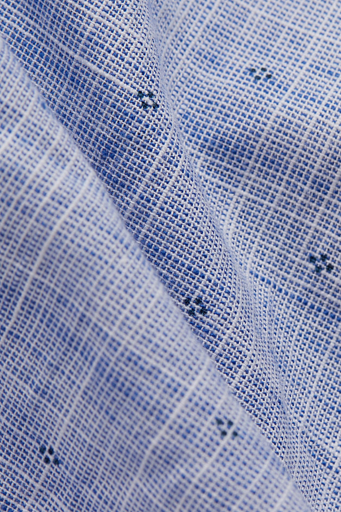 Textured shirt with a print, organic cotton, NAVY, detail image number 4