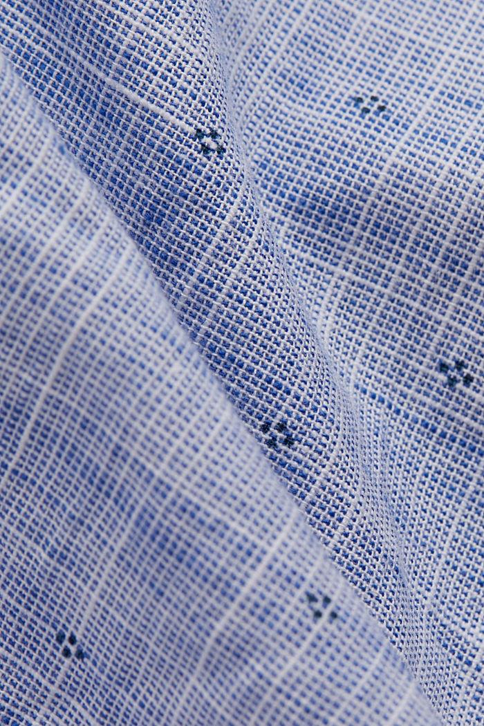 Struktur-Hemd mit Print, Organic Cotton, NAVY, detail image number 4
