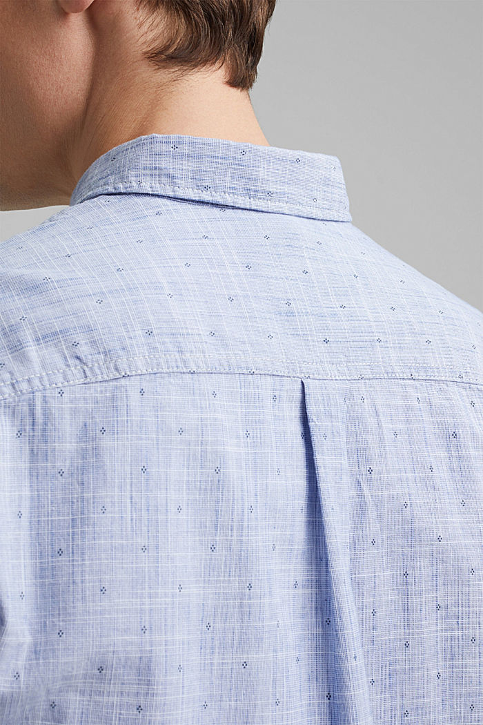 Textured shirt with a print, organic cotton, NAVY, detail image number 5