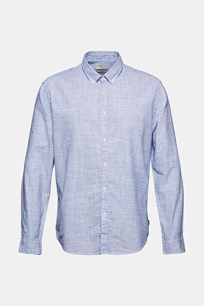 Struktur-Hemd mit Print, Organic Cotton, NAVY, detail image number 6