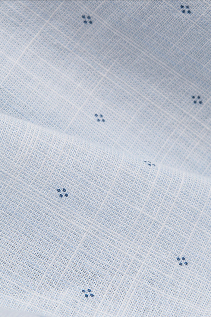 Struktur-Hemd mit Print, Organic Cotton, LIGHT BLUE LAVENDER, detail image number 4