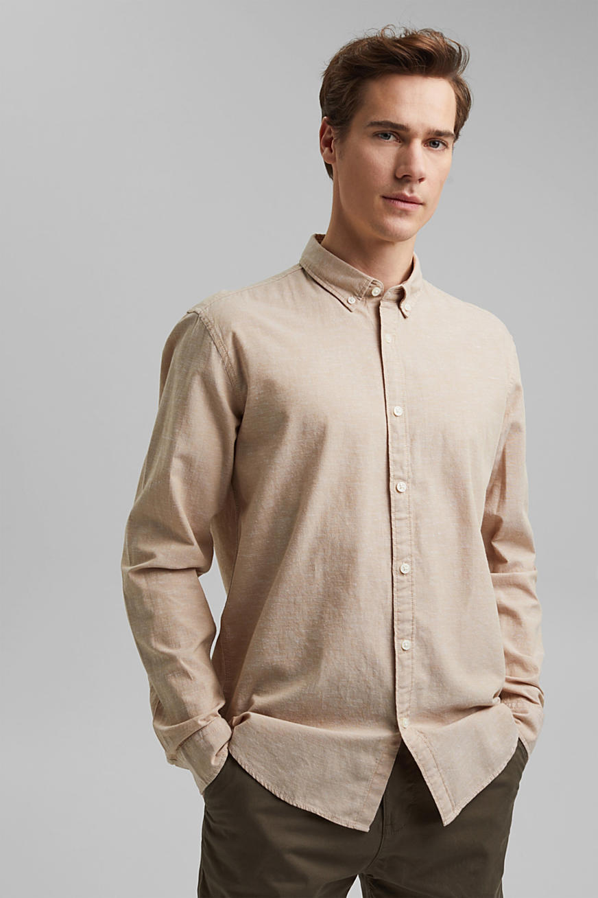 Lino e cotone biologico: camicia button-down