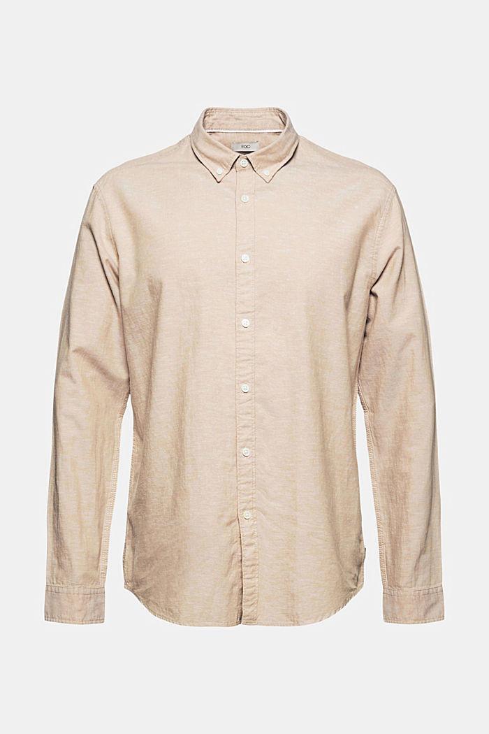 Linne/ekologisk bomull: button-down-skjorta