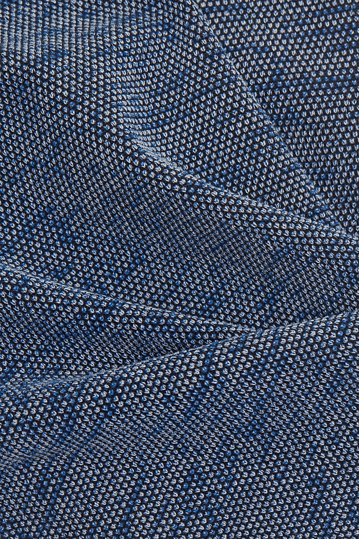 Jumper with texture, 100% organic cotton, NAVY, detail image number 4