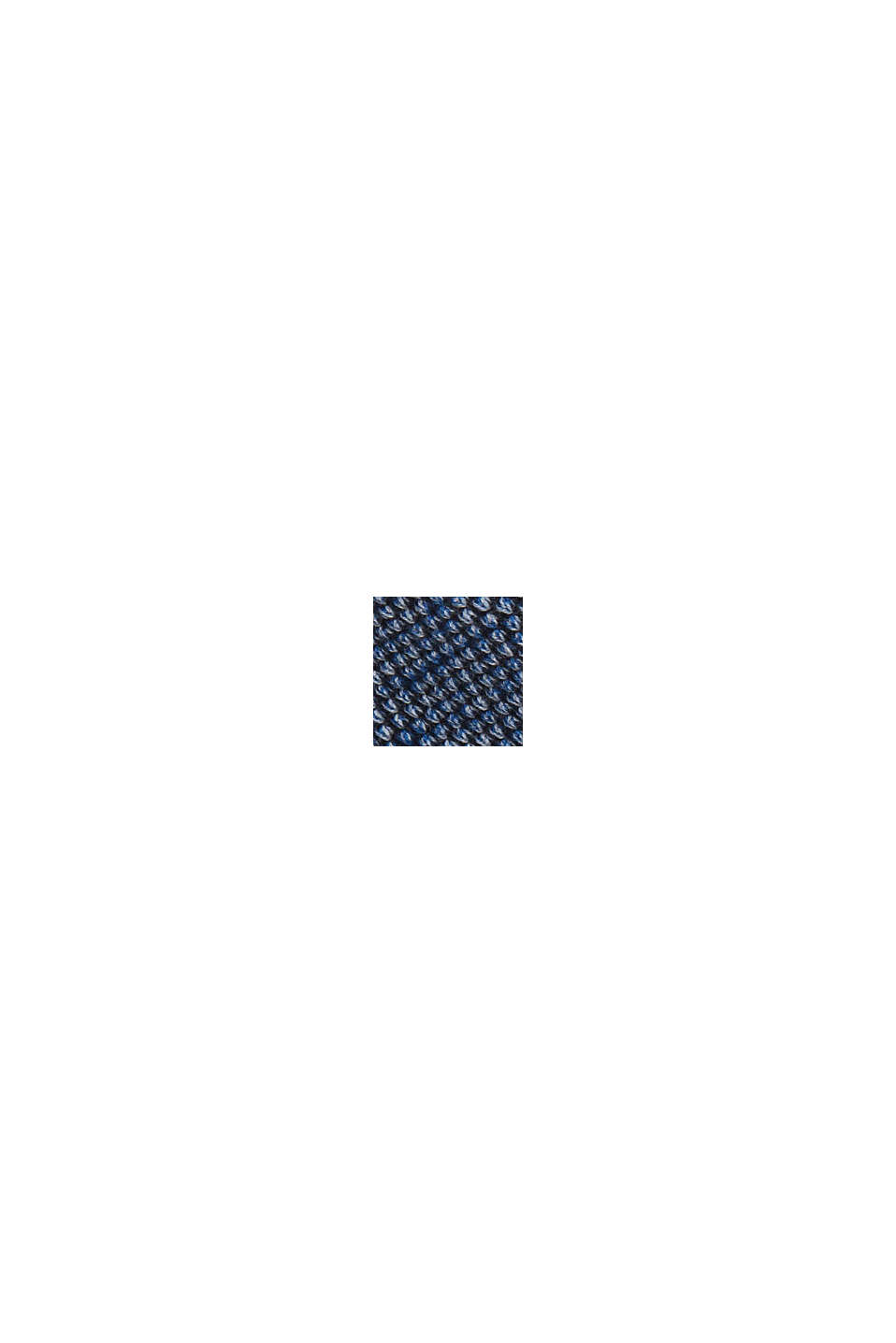 Jumper with texture, 100% organic cotton, NAVY, swatch