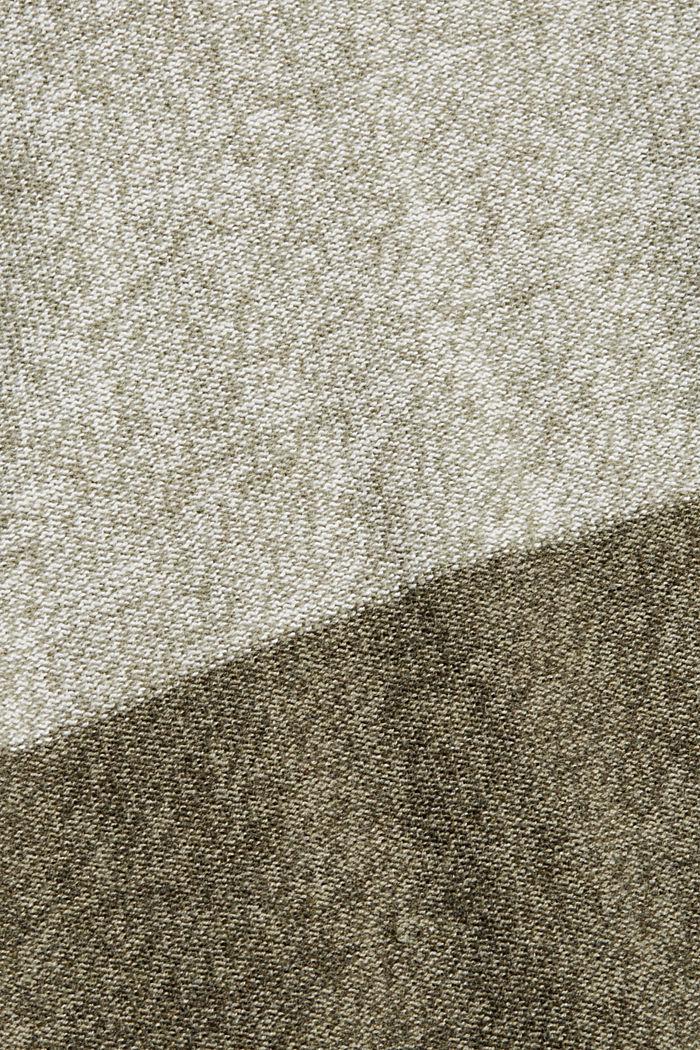 Pullover mit Blockstreifen, 100% Bio-Baumwolle, DARK KHAKI, detail image number 4