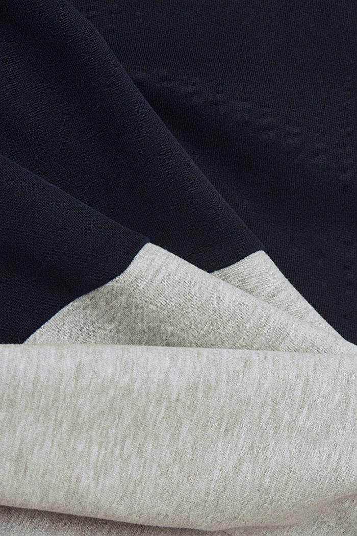 Colour block sweatshirt, organic cotton, NAVY, detail image number 5