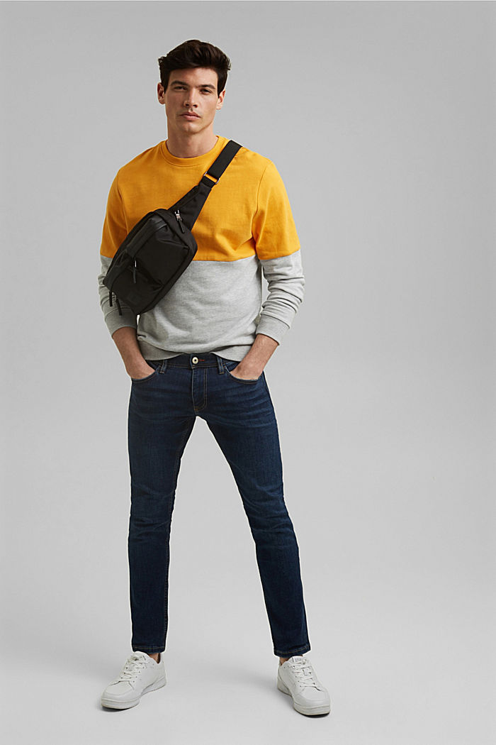 Colorblock-Sweatshirt, Organic Cotton, SUNFLOWER YELLOW, detail image number 1