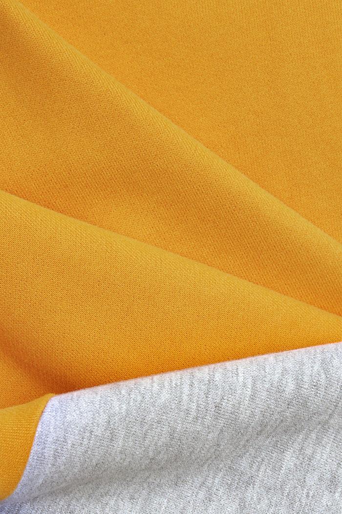 Colorblock-Sweatshirt, Organic Cotton, SUNFLOWER YELLOW, detail image number 4