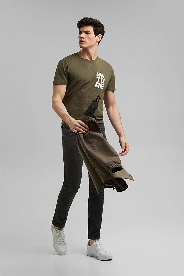 T-Shirt mit Print, Organic Cotton, DARK KHAKI, detail image number 2