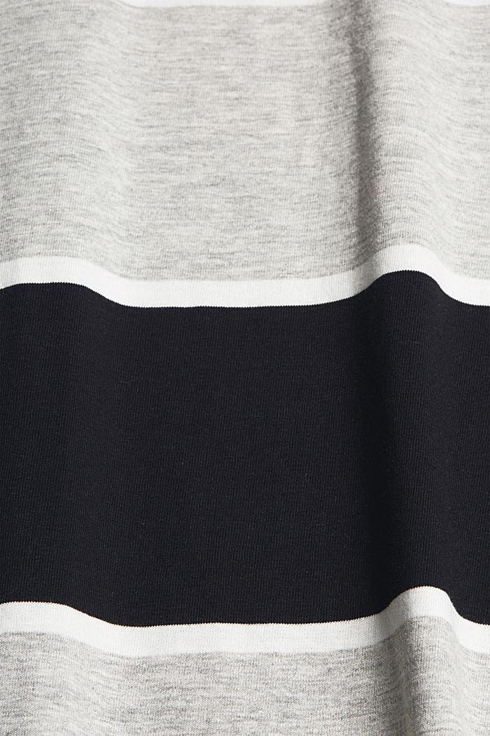 T-shirt rayé, coton biologique, ANTHRACITE, detail image number 4