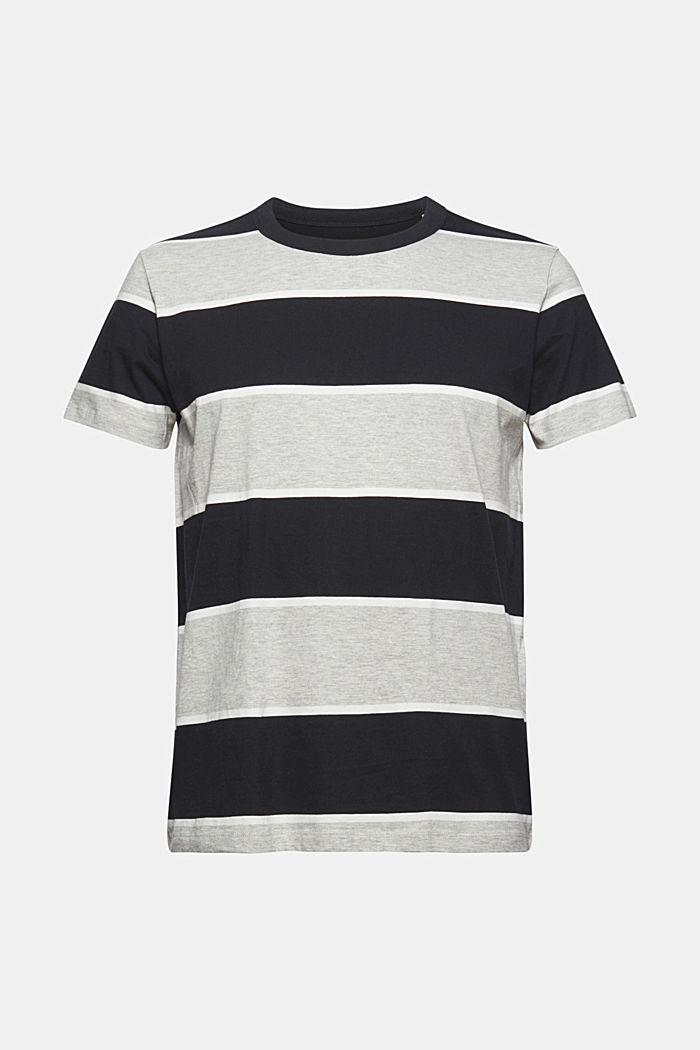 T-shirt rayé, coton biologique, ANTHRACITE, detail image number 6