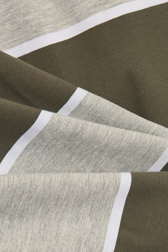Gestreiftes T-Shirt, Organic Cotton, DARK KHAKI, detail image number 4