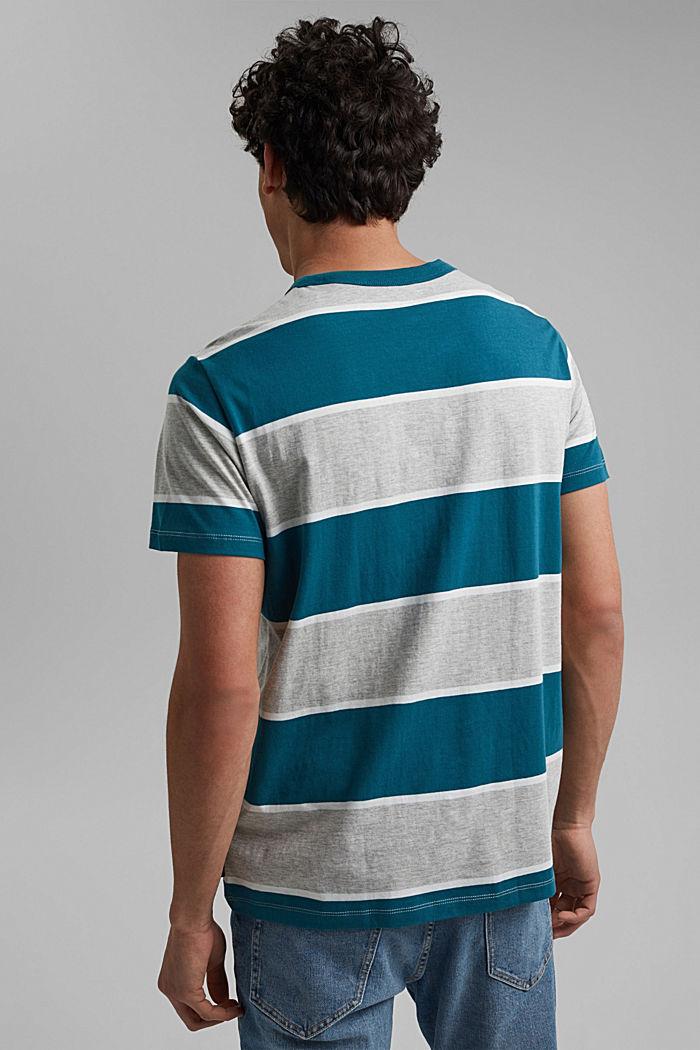Striped T-shirt, organic cotton, PETROL BLUE, detail image number 3