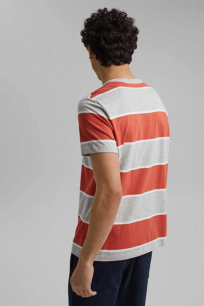 Striped T-shirt, organic cotton, CORAL, detail image number 3
