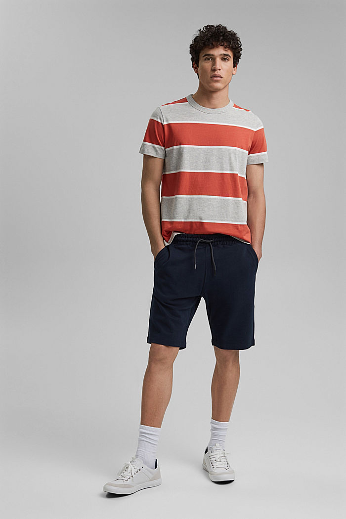 Striped T-shirt, organic cotton, CORAL, detail image number 2