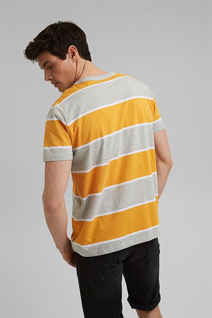 Gestreiftes T-Shirt, Organic Cotton, SUNFLOWER YELLOW, detail image number 3
