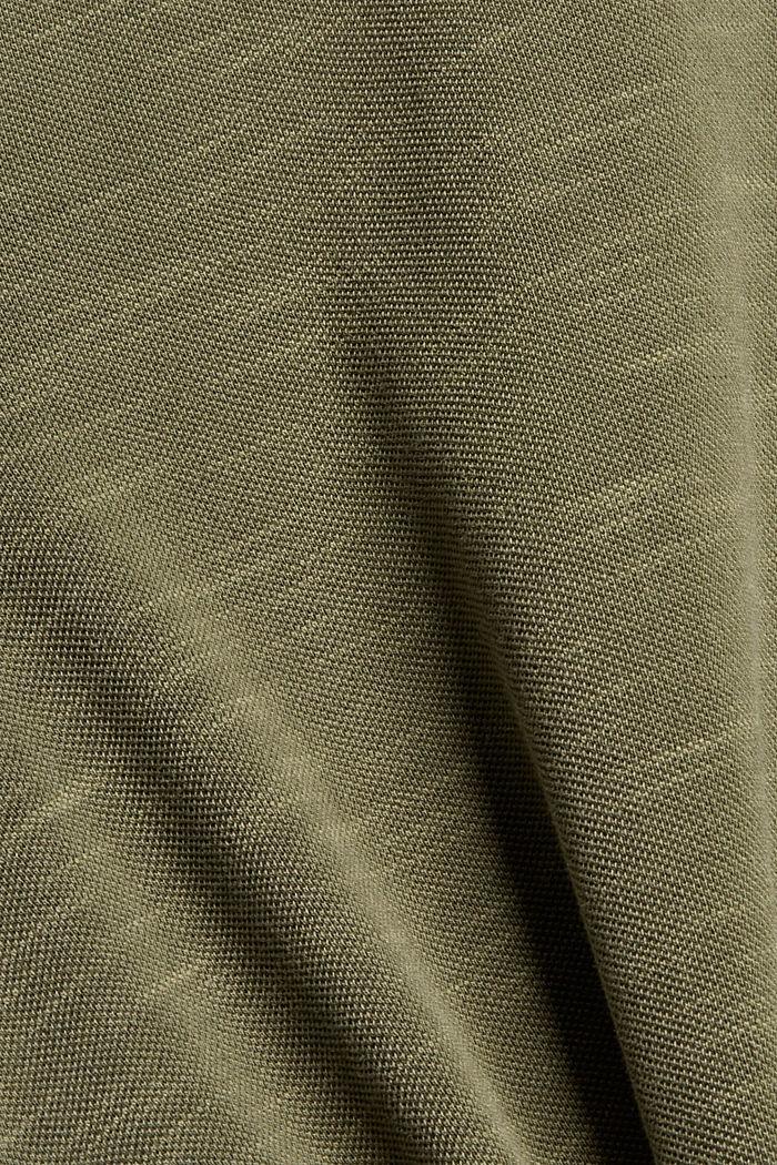 Polo en maille piquée 100% coton bio, DARK KHAKI, detail image number 4