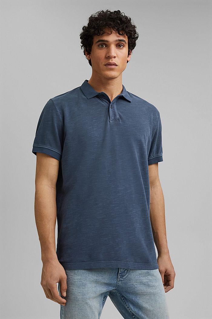 Piqué-Poloshirt aus 100% Organic Cotton, NAVY, detail image number 0
