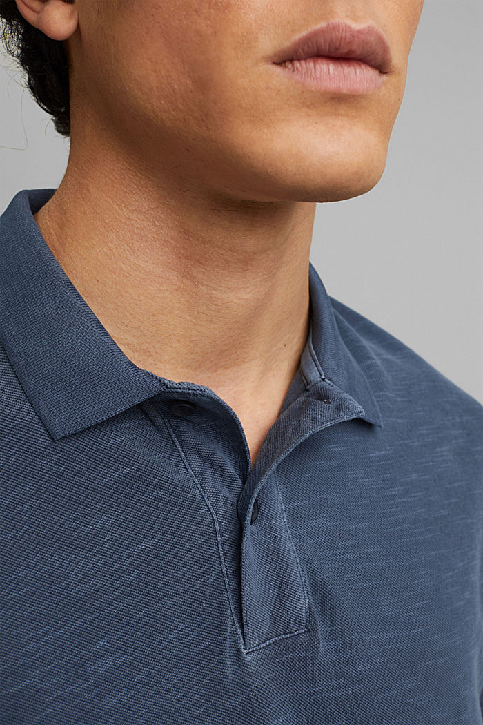 Piqué-Poloshirt aus 100% Organic Cotton, NAVY, detail image number 1